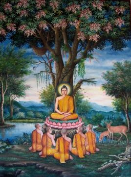 445px-Sermon_in_the_Deer_Park_depicted_at_Wat_Chedi_Liem-KayEss-1